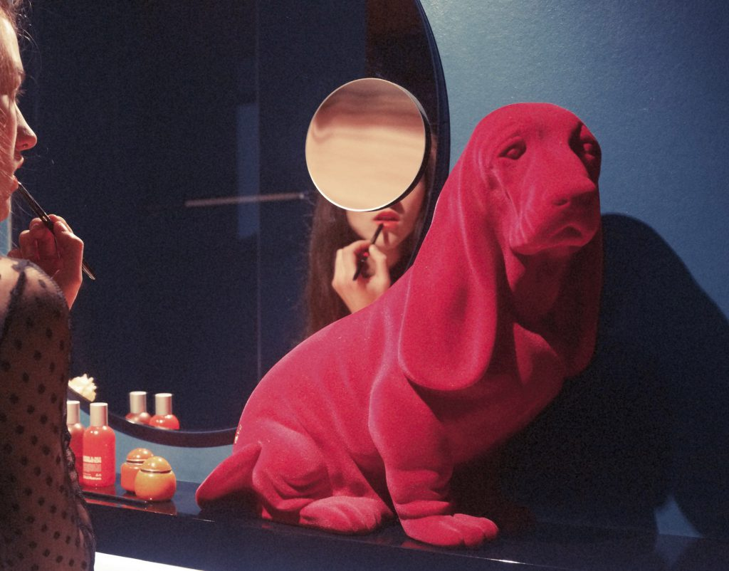 Zoozoo Velvet Basset Pink Campaign02